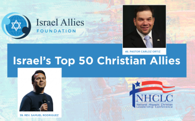 NHCLC Leadership Featured in Israel Allies Foundation's First Annual List of Israel's Top 50 Christian Allies