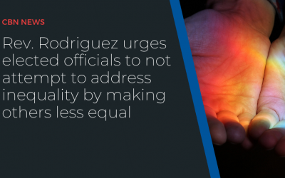 Rev. Rodriguez urges elected officials to not attempt to address inequality by making others less equal