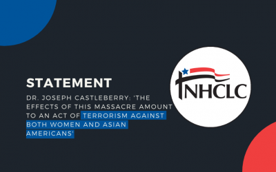 [Statement] Dr. Joseph Castleberry: 'The effects of this massacre amount to an act of terrorism against both women and Asian Americans'
