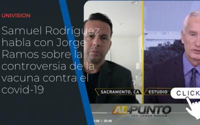 Samuel Rodríguez habla con Jorge Ramos sobre la controversia de la vacuna contra el covid-19